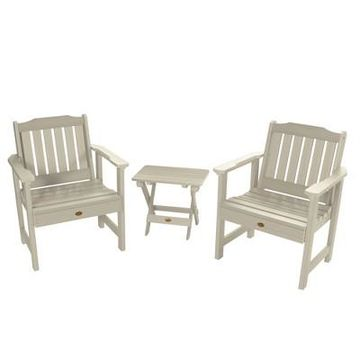 Lehigh Garden Chair 2pk with Folding Adirondack Side Table - Highwood