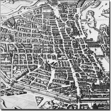 Trademark Art 'Map of Paris, 1620' Canvas Art