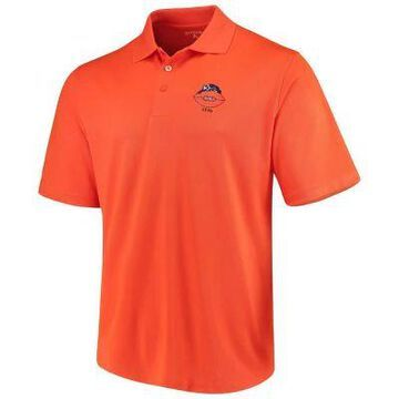 Men's Antigua Orange Chicago Bears Throwback Pique Polo