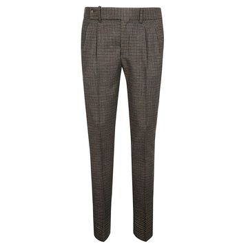 Entre Amis Slim Checked Trousers