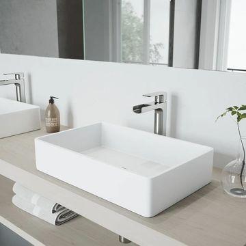 VIGO Amada Brushed Nickel Vessel Bathroom Faucet