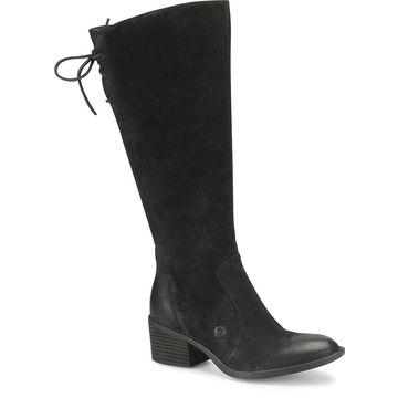 Born Womens Felicia Leather Almond Toe Knee High