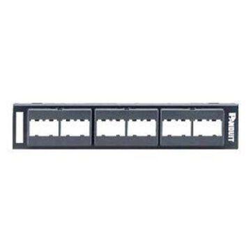 Panduit MINI-COM Modular Faceplate - Patch panel - 12 ports (CPP12WBL)