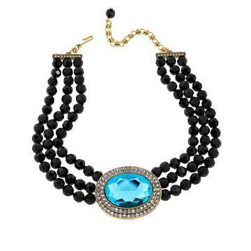 Heidi Daus Tailored Elegance 3-Row Crystal Drop Necklace