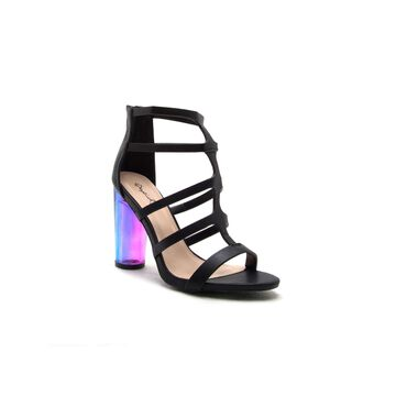 Qupid Womens Gilmore-14 Heeled Sandals