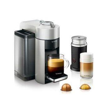 Nespresso by De'Longhi Vertuo Evoluo Coffee Maker with Aeroccino in Silver