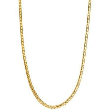 Pori Jewelers 18kt Gold-Plated Sterling Silver 1.5mm Franco Chain Men's Necklace, 26