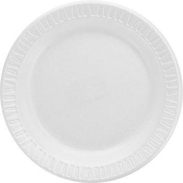 Dart, DCC6PWQRCT, Classic Laminated Foam Dinnerware Plates, 1000 / Carton, White