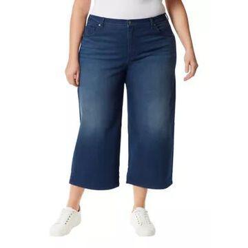 Gloria Vanderbilt Women's Plus Size Amanda Wide Leg Cropped Pants - -