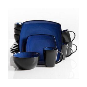 Gibson Soho Lounge 16-piece Dinnerware Set Blue, Service for 4