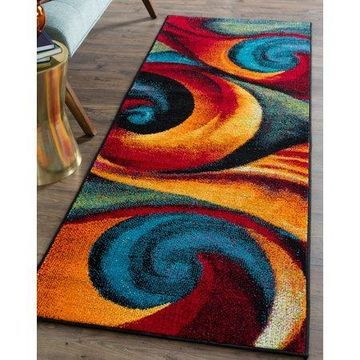 Bliss Rugs Tempest Contemporary Indoor Runner Rug