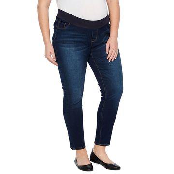 Belle & Sky Maternity Demi Panel Skinny Jean - Plus
