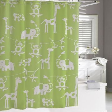 Kassatex Kassa Kids Jungle Shower Curtain