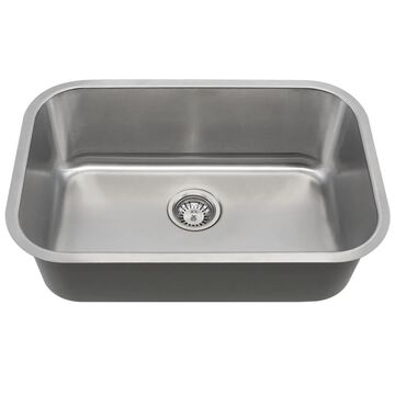 MR Direct 2718 Single Bowl Stainless Steel Sink