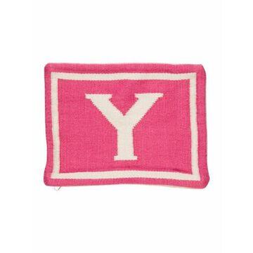 Junior Letter Reversible Throw Pillow Sham Pink