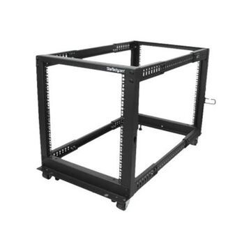 StarTech.com12U Adjustable Depth Open Frame 4 Post Server Rack Cabinet w/ Casters / Levelers and Cable Management Hooks(4POSTRACK12U)
