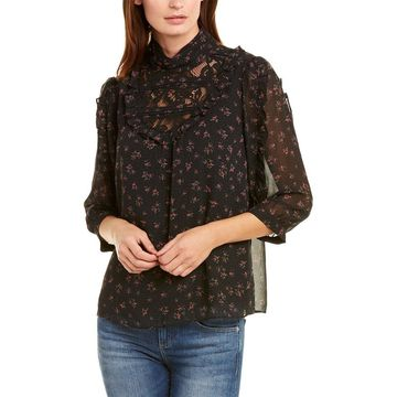 Kensie Womens Chiffon Shirt
