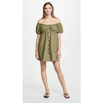 MINKPINK Linen Puff Mini Dress