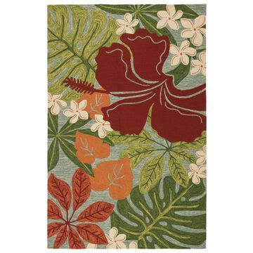 Kahiwa Handmade Vibrant Tropical Floral Indoor/ Outdoor Area Rug