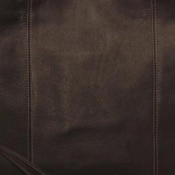 Piel Leather Extra Large Zip-Pocket Duffel (Chocolate)
