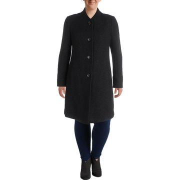 Ellen Tracy Womens Wool Coat Winter Warm