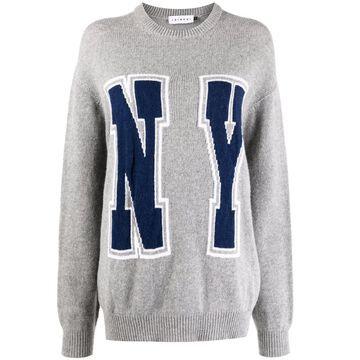 NY intarsia-knit jumper
