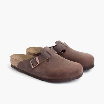 Birkenstock& Boston clogs in leather