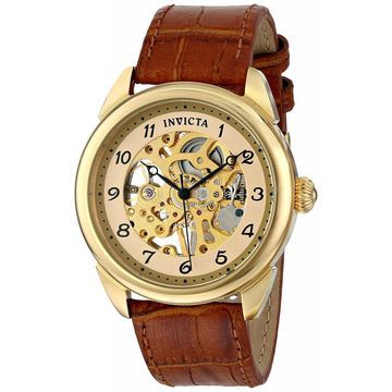 Invicta Mens 17188 Specialty Skeletonized Mechanical Hand-Wind Watch with...