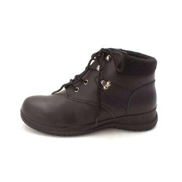 Wanderlust Womens Boston Leather Closed Toe Ankle Platform Boots