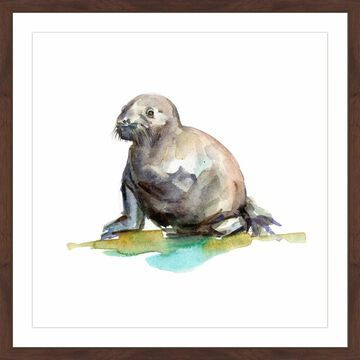 Marmont Hill - Handmade Baby Walrus Framed Print