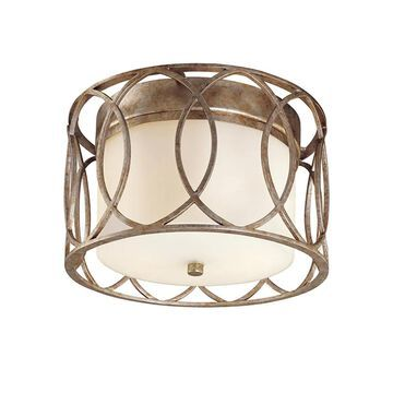 Troy Lighting Sausalito 12.25-in Silver Gold Incandescent Flush Mount Light | C1280SG