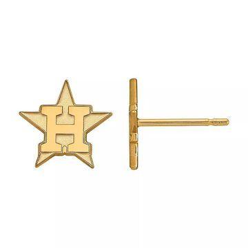 LogoArt 10K Gold Houston Astros Stud Earrings, Women's