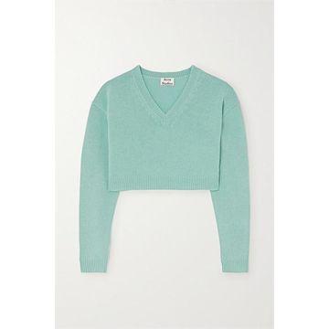 Acne Studios - Cropped Wool Sweater - Light blue