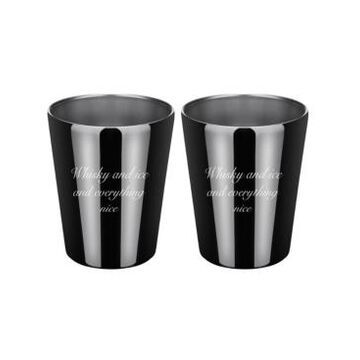 """Thirstystone by Cambridge """"Whiskey Ice Everything Nice"""" Double Old Fashion Cups - Set of 2"""