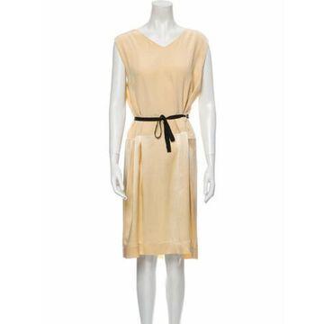 V-Neck Midi Length Dress