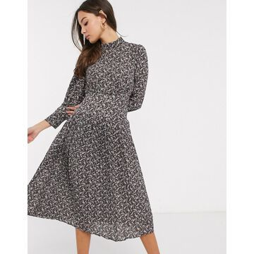 Y.A.S midi dress with gather details-Green