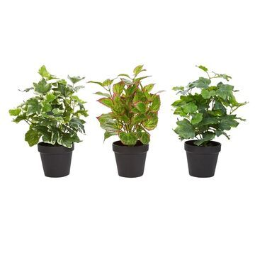 Pure Garden 13.5-inch Artificial Potted Plant (Set of 3)