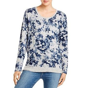 Cupio Scoop Neck Printed Pullover Sweater