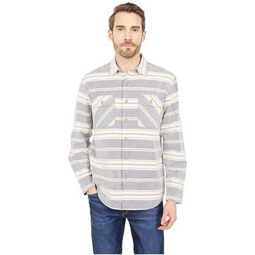 Pendleton Beach Shack Shirt (Indigo/Rust Stripe) Men's Clothing