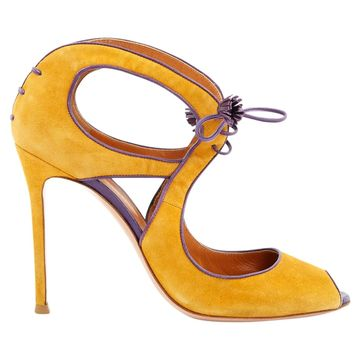 Gianvito Rossi Yellow Suede Sandals