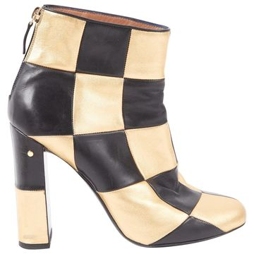 Laurence Dacade Gold Leather Boots
