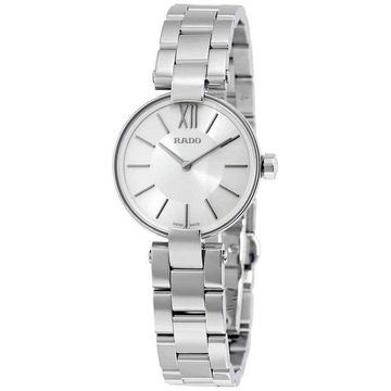 Rado Coupole Silver Dial Stainless Steel Ladies Watch R22854013