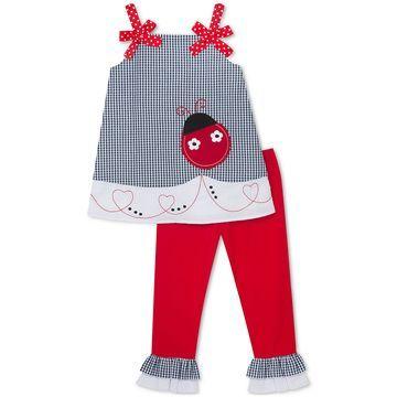 Toddler Girls 2-Pc. Ladybug Tunic & Capri Leggings Set
