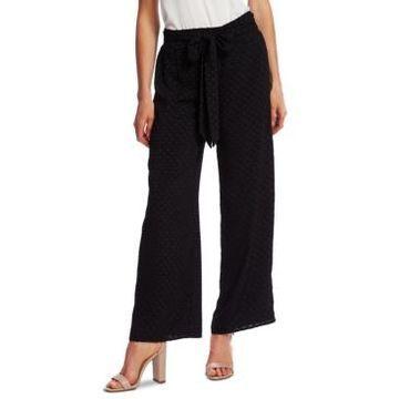 CeCe Jacquard Wide-Leg Pants