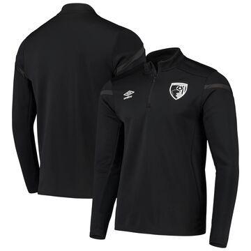 AFC Bournemouth Umbro Half-Zip Pullover Jacket - Black