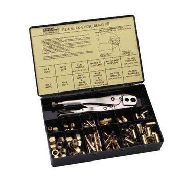 Western Enterprises Hose Repair Kits, Fittings; Crimping Tool; Full color label/description chart
