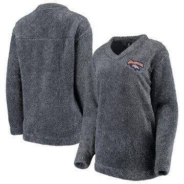 Denver Broncos Concepts Sport Women's Trifecta Pullover Sweatshirt Charcoal