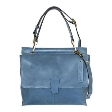 Nino Bossi Women's Jania Leather Shoulder Bag Blue - US Women's One Size (Size None)
