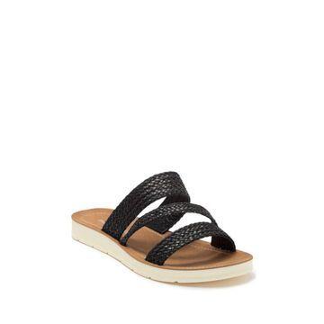 Madden Girl Womens Press-W Open Toe Casual Slide Sandals