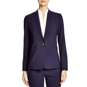 Elie Tahari Womens Darcy One-Button Blazer Wool Lined